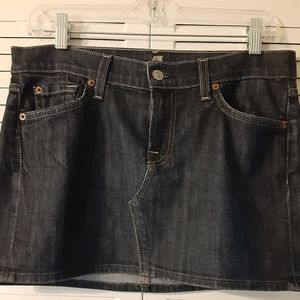 For All 7 Mankind Jean Skirt